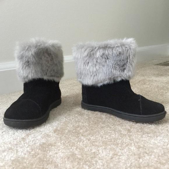 Tiny TOMS Black Nepal Boots - Size 8